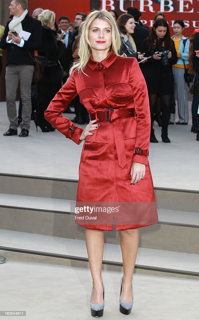Melanie Laurent attends the Burberry Prorsum show during London Fashion Week Fall/Winter 2013/14 at on February 18, 2013 in London, England.