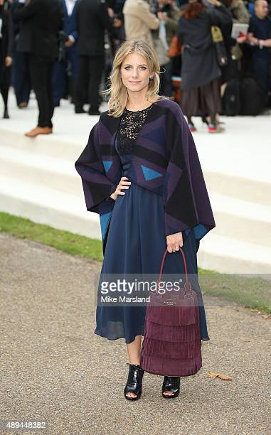 Melanie Laurent attends the Burberry Prorsum show during London Fashion Week Spring/Summer 2016/17 on September 21 2015 in London England