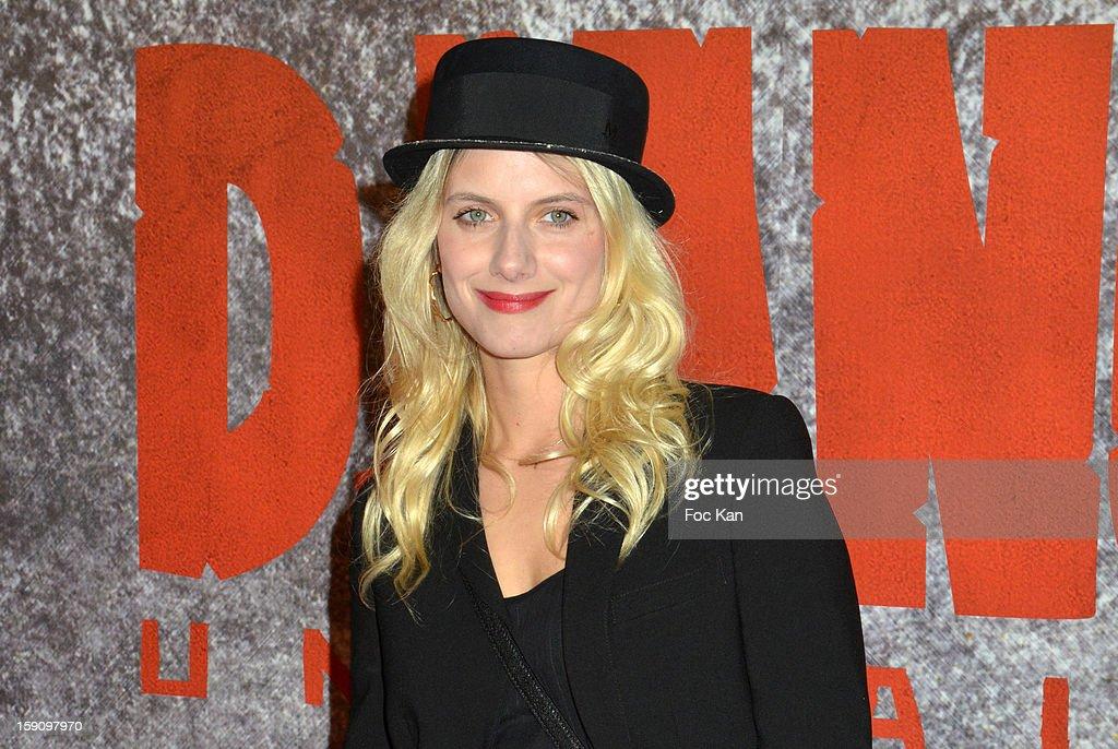 Melanie Laurent attends the 'Django Unchained' Paris premiere red carpet arrival at Le Grand Rex on January 7, 2013 in Paris, France.