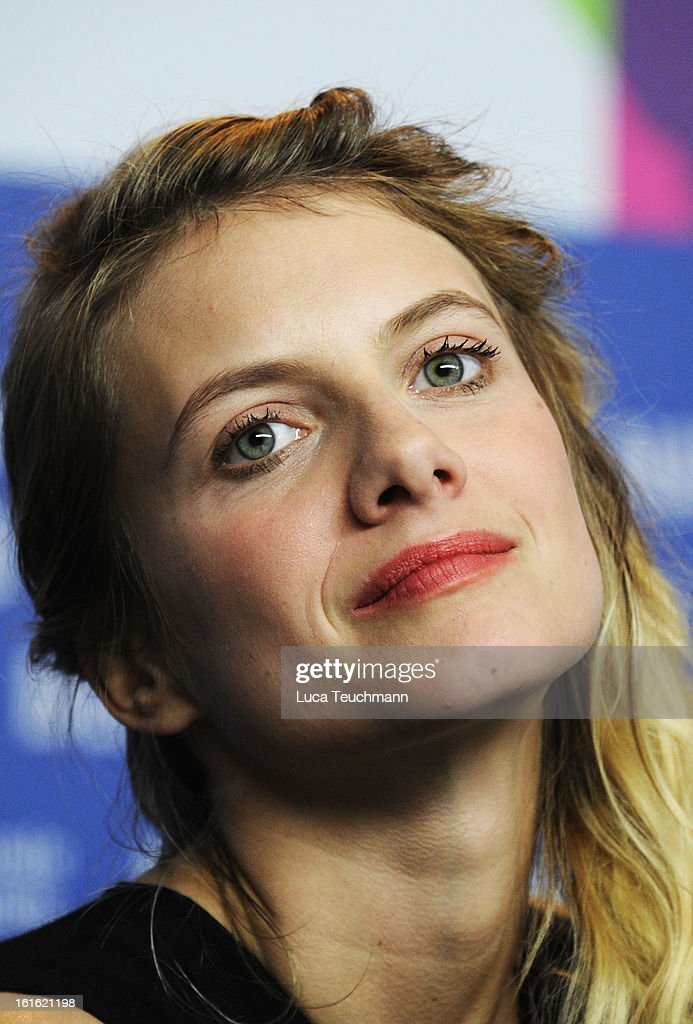 <a gi-track='captionPersonalityLinkClicked' href=/galleries/search?phrase=Melanie+Laurent&family=editorial&specificpeople=2721978 ng-click='$event.stopPropagation()'>Melanie Laurent</a> attends the 'Night Train to Lisbon' Press Conference during the 63rd Berlinale International Film Festival at the Grand Hyatt Hotel on February 13, 2013 in Berlin, Germany.