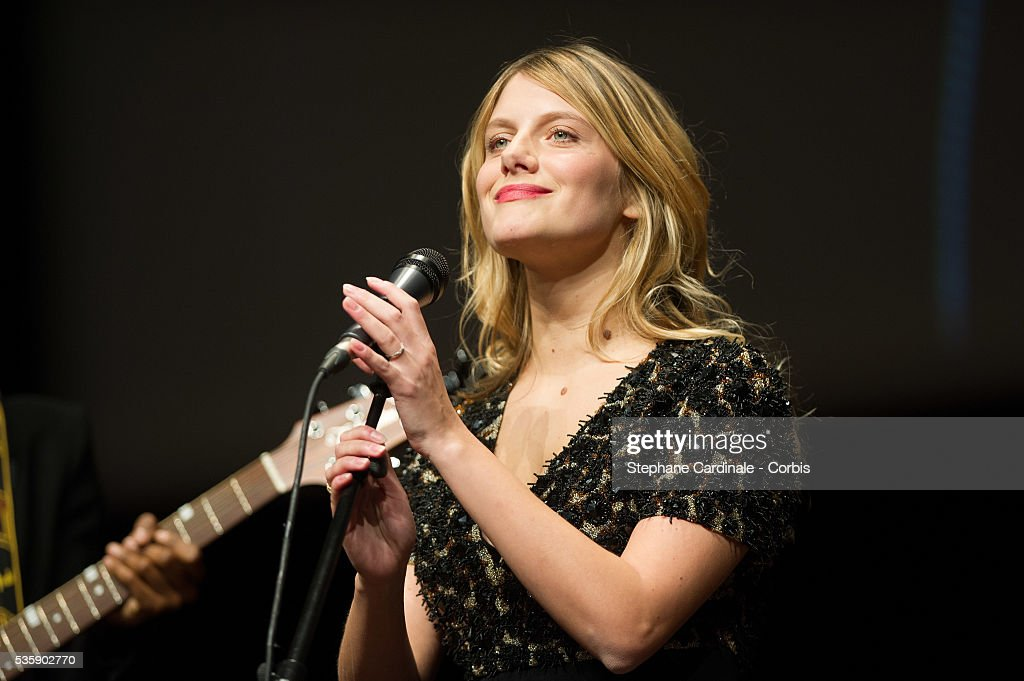 Melanie Laurent performs on stage during the Tribute to Quentin Tarantino, during the 5th Lumiere Film Festival, in Lyon.
