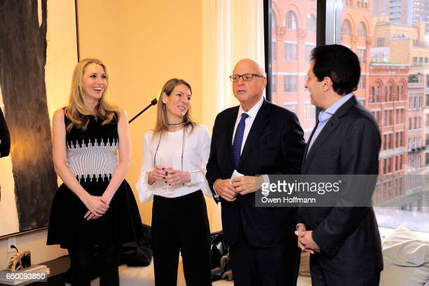 Melanie Lazenby Dina Lewis Howard Lorber and Ziel Feldman attend 11 Beach Model Residence Unveiling Event at 11 Beach Street on March 7 2017 in New...