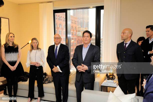 Melanie Lazenby Howard Lorber Ziel Feldman and John Gomes attend 11 Beach Model Residence Unveiling Event at 11 Beach Street on March 7 2017 in New...