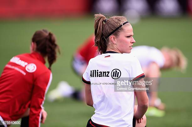 Melanie Leupolz of Germany practices during a training session at Richcraft Recreation Center on June 1 2015 in Ottawa Canada