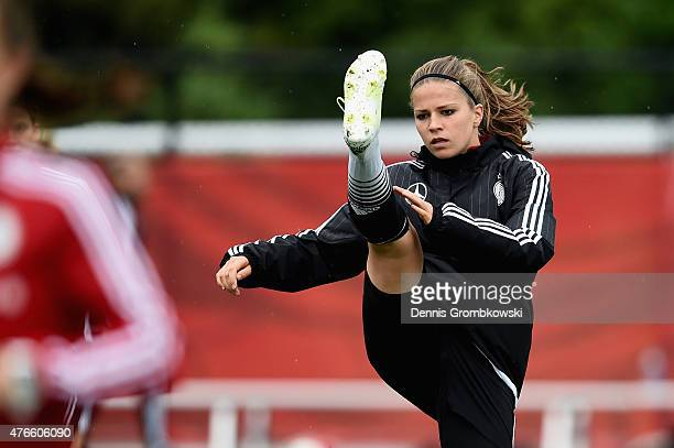 Melanie Leupolz of Germany practices during a training session at Richcraft Recreation Complex on June 10 2015 in Ottawa Canada