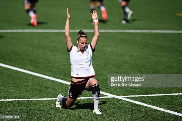 Melanie Leupolz of Germany practices during a training session at Complexe Sportif Multi Sports on June 23 2015 in Montreal Canada