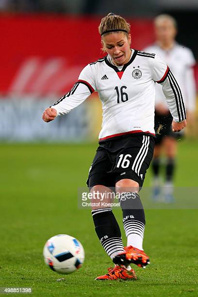 Melanie Leupolz of Germany runs with the ball during the Women's International Friendly match between Germany and England at SchauinslandReisenArena...