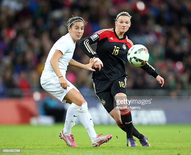 Melanie Leupolz of the German women's national football team in action during the Women's International Friendly match between England and Germany at...