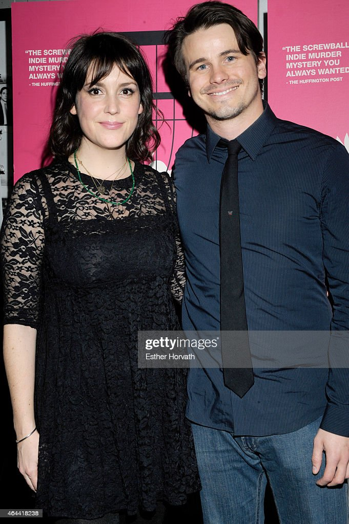 Melanie Lynskey (L) and Jason Ritter attend 'Wild Canaries' New York Premiere - Arrivals at IFC Center on February 25, 2015 in New York City.