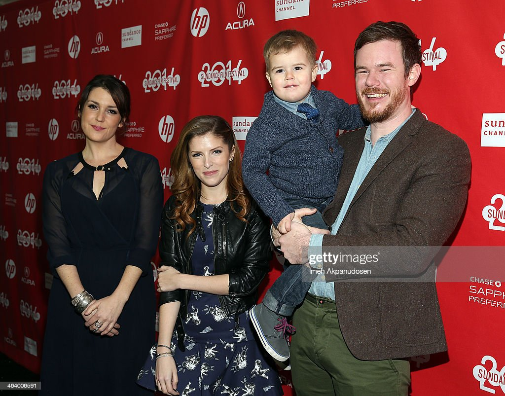 Melanie Lynskey, Anna Kendrick and director Joe Swanberg attends the 'Happy Christmas' premiere at Library Center Theater during the 2014 Sundance Film Festival on January 19, 2014 in Park City, Utah.