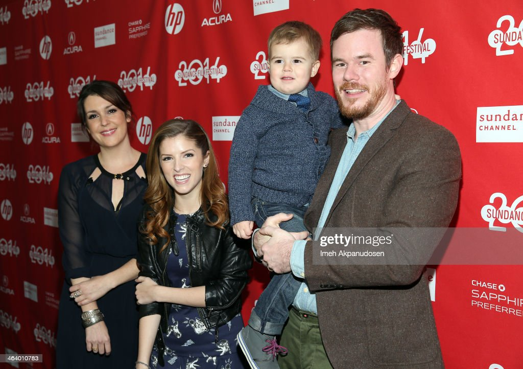 Melanie Lynskey, Anna Kendrick and Joe Swanberg attend the 'Happy Christmas' premiere at Library Center Theater during the 2014 Sundance Film Festival on January 19, 2014 in Park City, Utah.