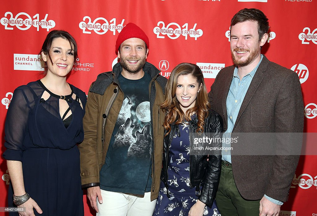 Melanie Lynskey, Mark Webber, Anna Kendrick and Joe Swanberg attend the 'Happy Christmas' premiere at Library Center Theater during the 2014 Sundance Film Festival on January 19, 2014 in Park City, Utah.