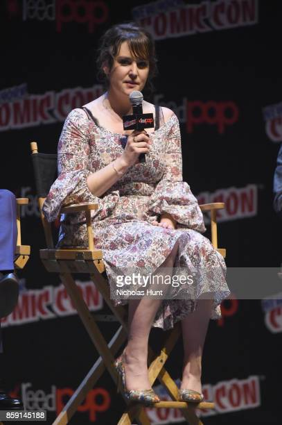 Melanie Lynskey speaks onstage at the Castle Rock Panel during the New York Comic Con 2017 on October 8 2017 in New York City