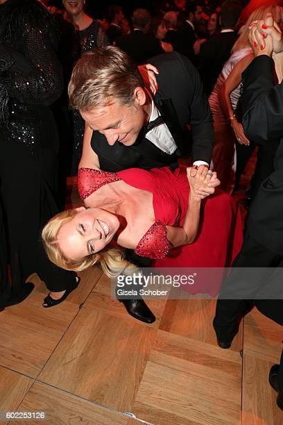 Melanie Marschke and Marco Girnth dance during the Leipzig Opera Ball 'Let's dance Dutch' at alte Oper on September 10 2016 in Leipzig Germany