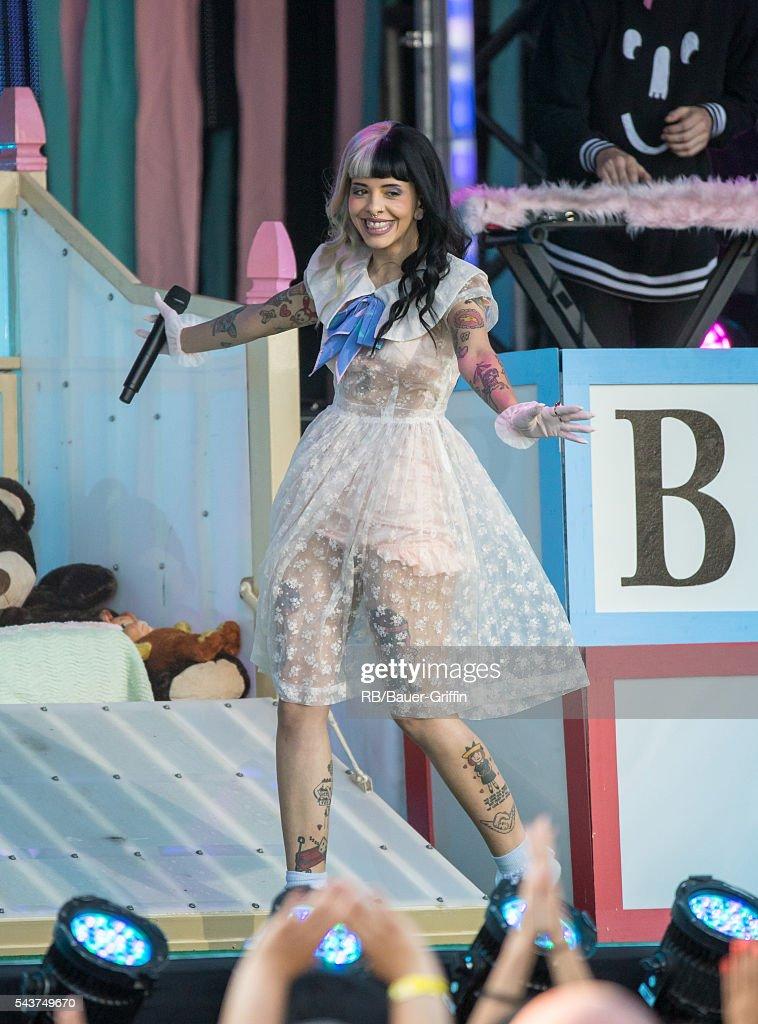Melanie Martinez is seen at 'Jimmy Kimmel Live' on June 29 2016 in Los Angeles California