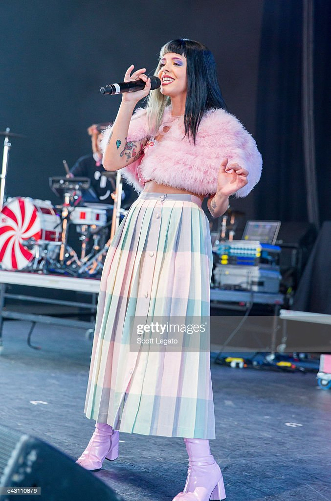 Melanie Martinez performs at Freedom Hill Amphitheater on June 24, 2016 in Sterling Heights, Michigan.