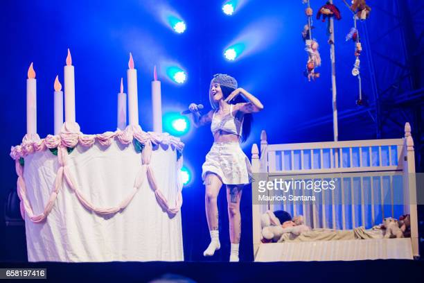 Melanie Martinez performs live on stage during day two of Lollapalooza Brazil at Autodromo de Interlagos on March 26 2017 in Sao Paulo Brazil