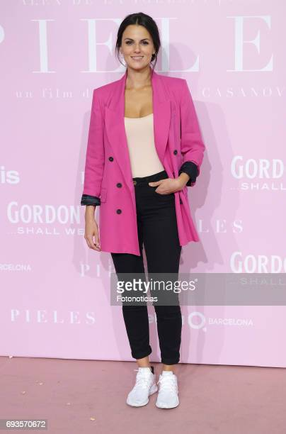 Melanie Matthews attends the 'Pieles' premiere pink carpet at Capitol cinema on June 7 2017 in Madrid Spain