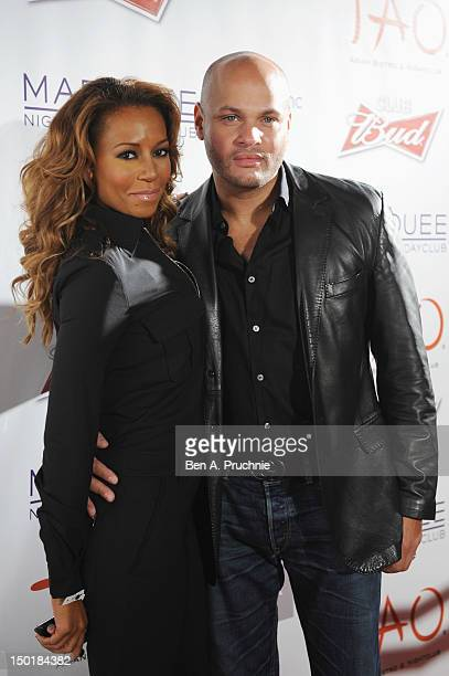 Melanie 'Mel B' Brown and husband Stephen Belafonte attend the Club Bud powered by Marquee at The Roundhouse on August 11 2012 in London England