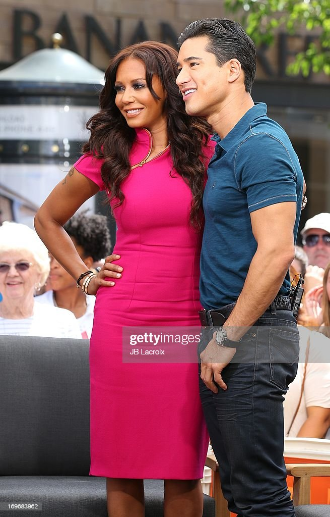 Melanie 'Mel B' Brown and Mario Lopez are seen at The Grove on May 30, 2013 in Los Angeles, California.