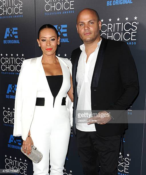 Melanie 'Mel B' Brown and Stephen Belafonte attend the 5th annual Critics' Choice Television Awards at The Beverly Hilton Hotel on May 31 2015 in...