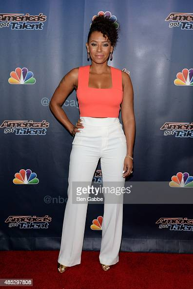 Melanie 'Mel B' Brown attends 'America's Got Talent' postshow red carpet at Radio City Music Hall on August 26 2015 in New York City