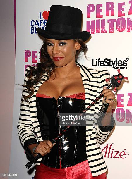 Melanie 'Mel B' Brown attends Perez Hilton's 'CarnEvil' Theatrical Freak and Funk 32nd birthday party at Paramount Studios on March 27 2010 in Los...