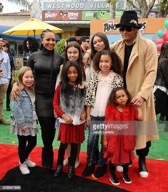 Melanie 'Mel B' Brown Stephen Belafonte and family attend the premiere of 'Angry Birds' at Regency Village Theatre on May 7 2016 in Westwood...