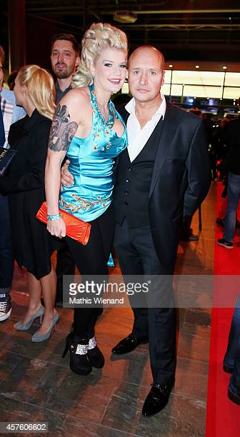 Melanie Mueller and her boyfriend Mike Bluemer attend the 18th Annual German Comedy Awards at Coloneum on October 21 2014 in Cologne Germany The show...