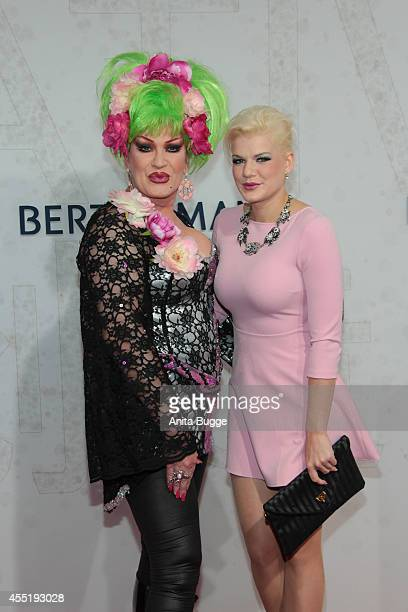 Melanie Mueller and Jean Rogers attend the Bertelsmann Summer Party at the Bertelsmann representative office on September 10 2014 in Berlin Germany