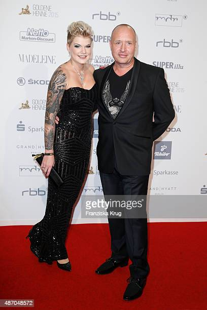 Melanie Mueller and Mike Bluemer attends Madeleine At Goldene Henne 2015 on September 05 2015 in Berlin Germany