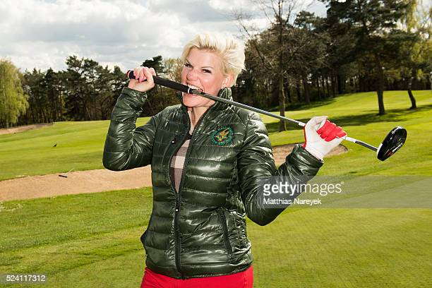Melanie Mueller attends the Eagles charity golf tournament on April 25 2016 in Berlin Germany