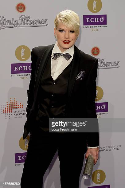 Melanie Mueller attends the Echo Award 2015 Red Carpet Arrivals on March 26 2015 in Berlin Germany