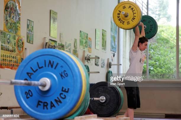 Melanie NOEL Entrainement Equipe de France halterophilie INSEP
