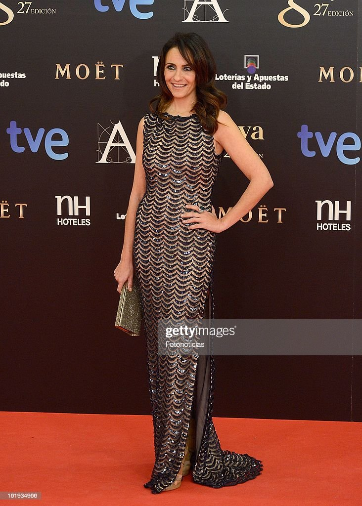 Melanie Olivares attends Goya Cinema Awards 2013 at Centro de Congresos Principe Felipe on February 17, 2013 in Madrid, Spain.