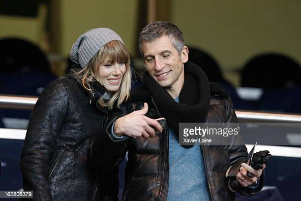 Melanie Page and her husband Nagui attend before the French Cup between Paris SaintGermain FC and Marseille Olympic OM at Parc des Princes on...