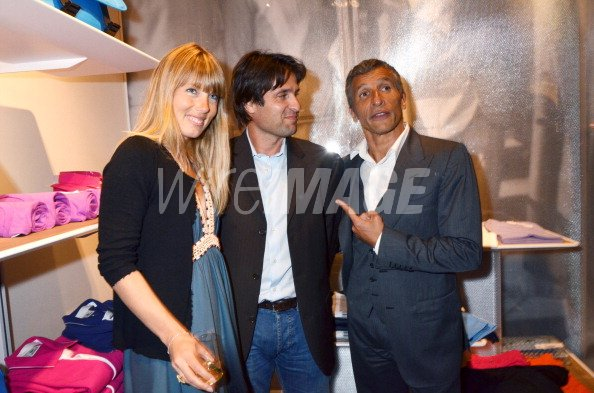 29cd1060cd20b1 Melanie Page Fabrice Santoro and Nagui attend the Lacoste Flagship ...