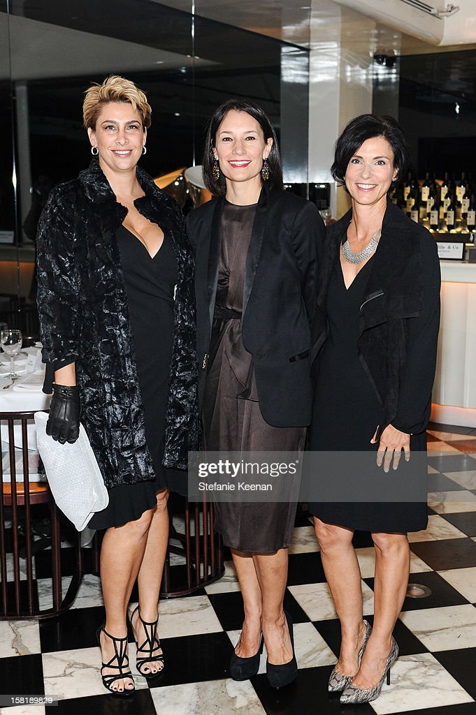 Melanie Regberg, Jennie Prebor and Rowanne Henry attend LAXART Vision dinner At Mr. Chow sponsored by Jay Carlile and Guess at Mr. Chow on December 10, 2012 in Los Angeles, California.