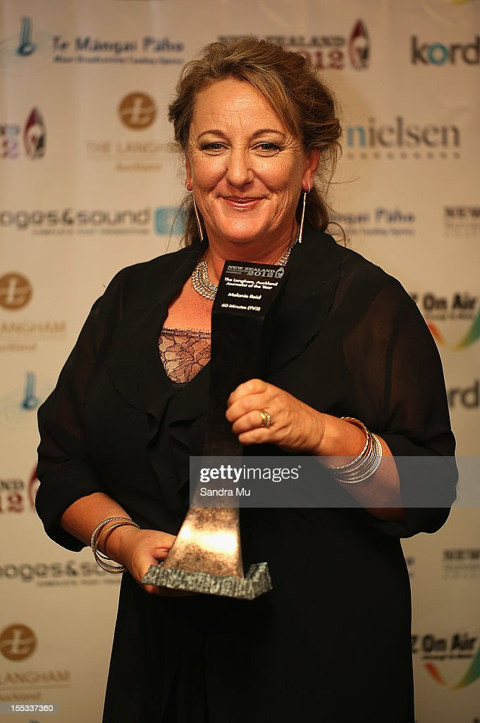 Melanie Reid poses with her award for Journalist of the Year during the New Zealand Television Awards at the Langham Hotel on November 3, 2012 in Auckland, New Zealand.