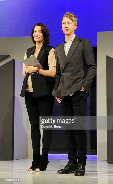 Melanie Rickey and Jefferson Hack present the Media and Design award during the Graduate Fashion Week 2012 Gala Show at Earls Court 2 on June 13 2012...