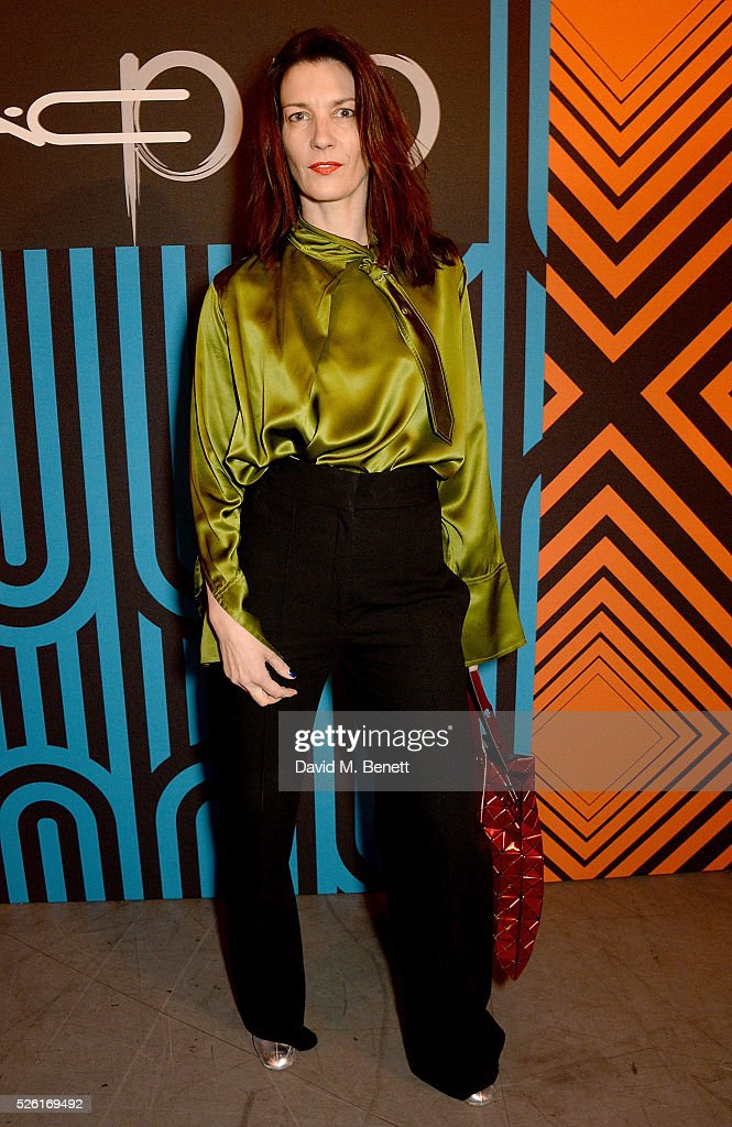 Melanie Rickey attends the MAC Pro to Pro Textile Party at London's Camden Roundhouse on April 29, 2016 in London, England.