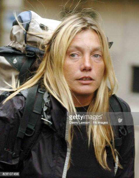 Melanie Roberts leaves Edinburgh Sheriff court after her boy friend Stephen Gough the naked rambler was sentenced to 14 days imprisonment for breach...