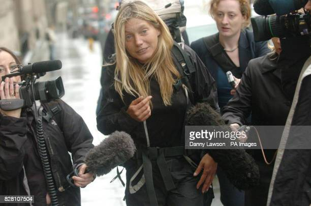 Melanie Roberts leaves Edinburgh Sheriff court Friday 9th September after her boy friend Stephen Gough the naked rambler was sentenced to 14 days...