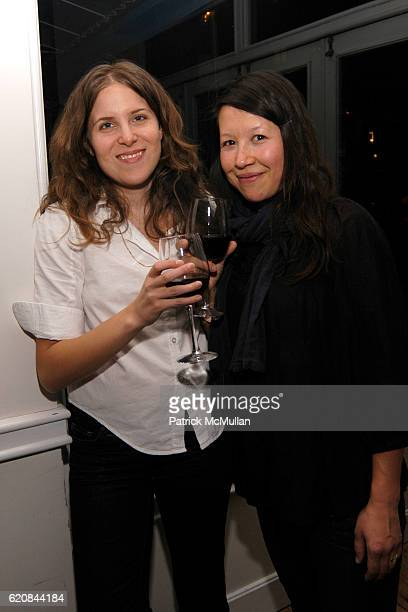 Melanie Schiff and Amanda RossHo attend Whitney Biennial Artists Party at Trata Estiatoria on March 8 2008 in New York City