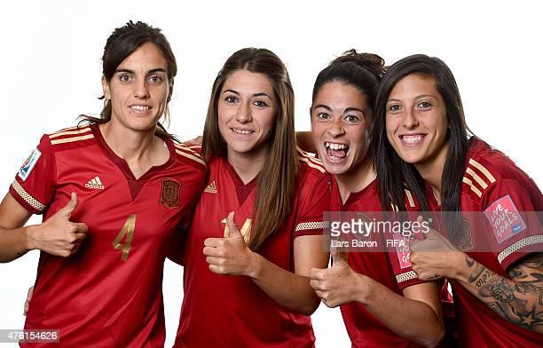 Melanie Serrano Perez Vicky Losada MArta Torrejon and Jennifer Hermoso of Spain pose during the FIFA Women's World Cup 2015 portrait session at...