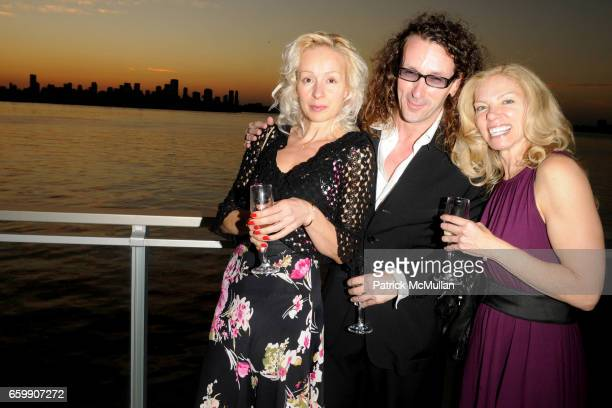 Melanie Sohar Massimo Solie and Marilyn Gerber attend ART BASEL Official Welcome Party at The Mondrian on December 1 2009 in Miami Beach Florida