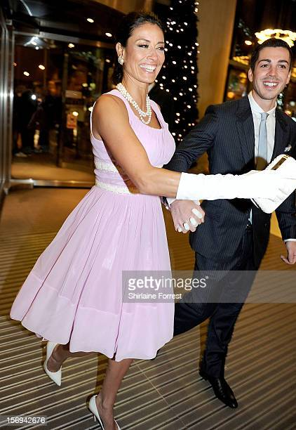 Melanie Sykes and boyfriend Jack Cockings attend the Hearts and Minds charity ball at Hilton Hotel on November 25 2012 in Manchester England