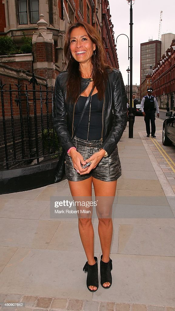 Melanie Sykes at the Chiltern Firehouse on June 19, 2014 in London, England.