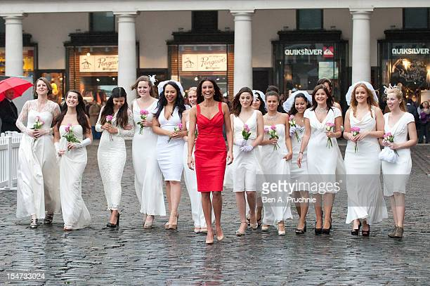 Melanie Sykes attends a photocall to launch Direct Line Live's new interactive installation at Covent Garden on October 25 2012 in London England