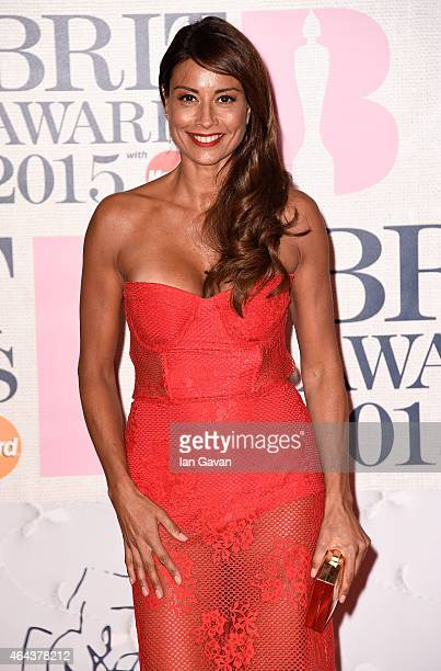 Melanie Sykes attends the BRIT Awards 2015 at The O2 Arena on February 25 2015 in London England
